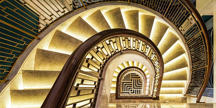 "Interior of St.Regis Bar( St.Regis Jing""An) located in Jing""An, Shanghai"