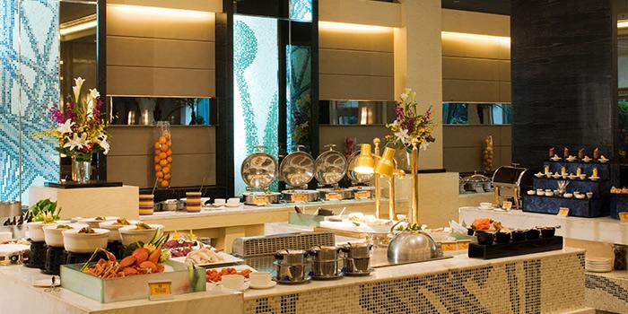 Interior of California Cafe (Regal International East Asia Hotel) located in Xuhui, Shanghai