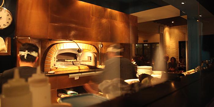 Kitchen of La Strada located in Xuhui, Shanghai