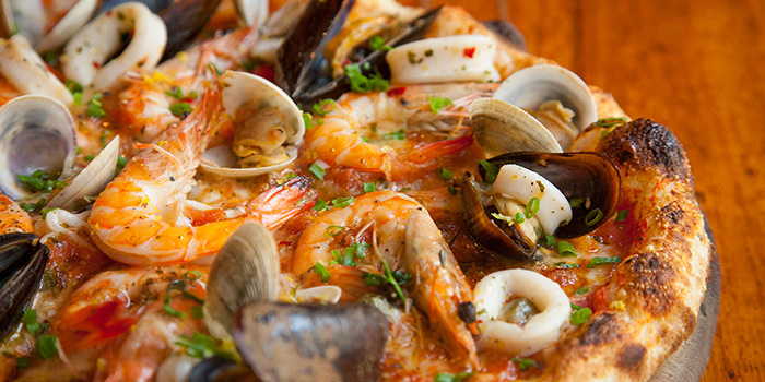 Seafood Pizza from La Strada located in Xuhui, Shanghai