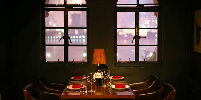 Dining Table of CASANOVA located on the bund 6, Huangpu District, Shanghai, China