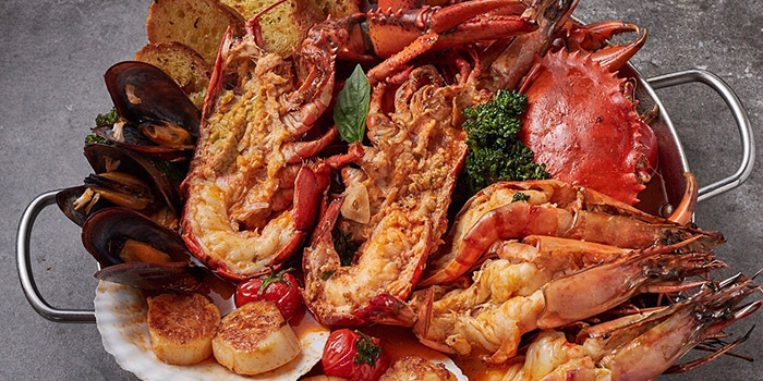 Seafood from Bianchi located on Huamu Lu, Pudong, Shanghai