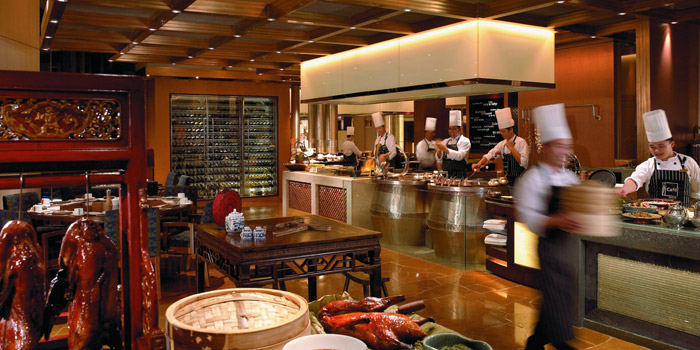 Interior of Yi Cafe (Shangri-La Pudong) located in Pudong, Shanghai
