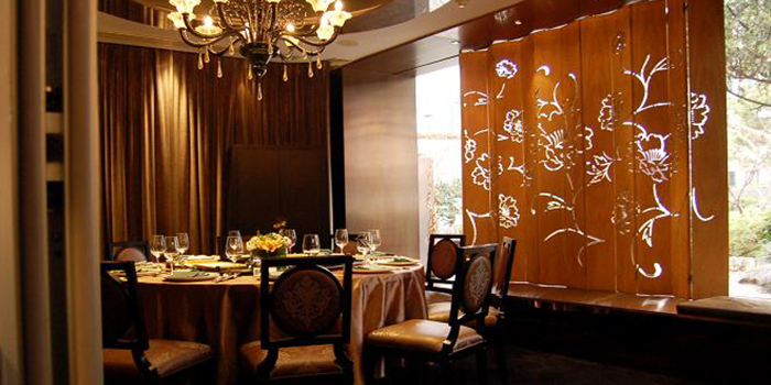 Interior of Family Li Imperial Cuisine located in Huangpu, Shanghai