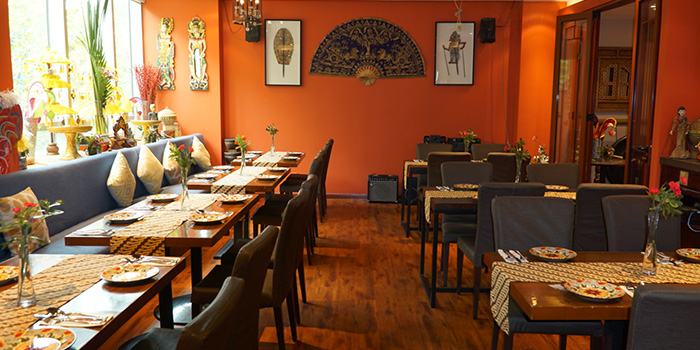 Interior of Bali Bistro & Balini Coffee located in Jing