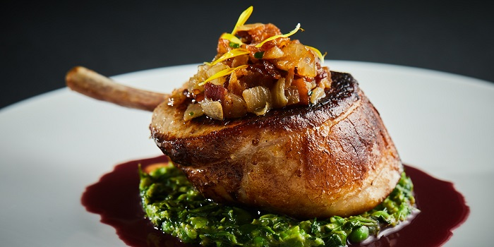Pan-Fried Iberico Pork Chop of Café Gray Deluxe located in Jinf