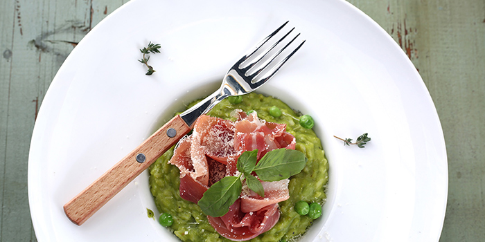 Parma Ham Pea risotto from Odelice! located on Tianyaoqiao Lu, Xuhui, Shanghai