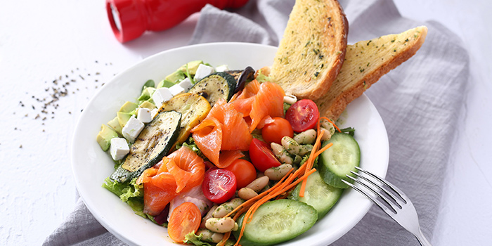 Salmon Cobb Salad from Odelice! located on Tianyaoqiao Lu, Xuhui, Shanghai