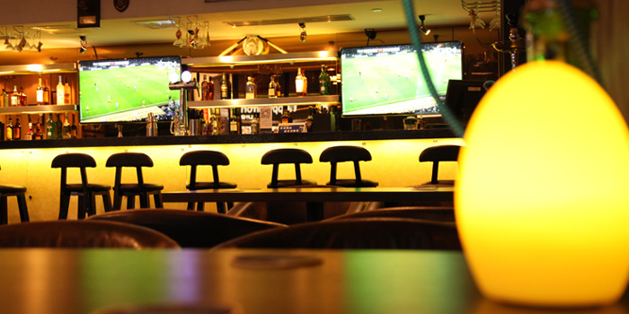 Indoor of Hit Wicket Indian Restaurant & Bar located in Hongkou District, Shanghai