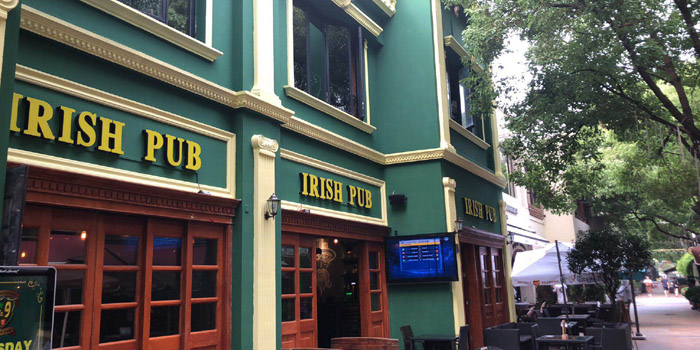 Outdoor of Irish Pub No.9 (Laowaijie) located in Changning District, Shanghai