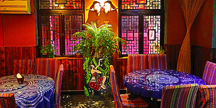 Indoor of Lotus Eatery located in Changning, Shanghai