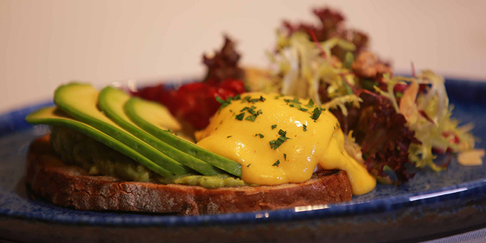Avocado Eggs Benedict from Mia Fringe Dining & Lounge located in Huangpu, Shanghai