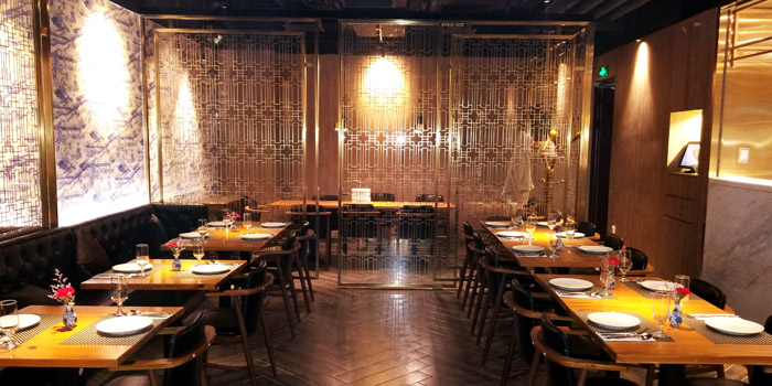 Indoor of Jstone. Italian Kitchen & Bar (Shimao Tower) located in Pudong, Shanghai