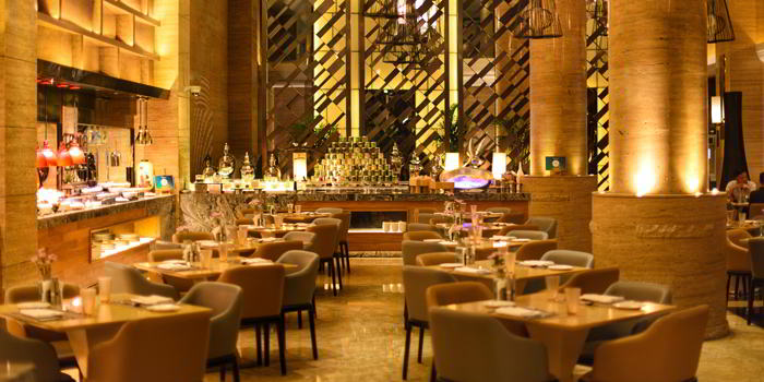 Indoor of VENU Restaurant (Pullman Shanghai Jing An) located in Jing