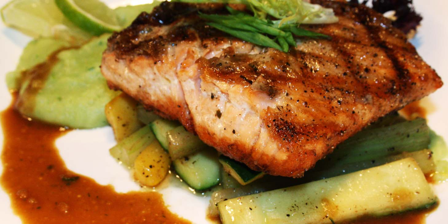 Grilled Salmon of El Bodegon (Panyu Lu) located in Changning, Shanghai
