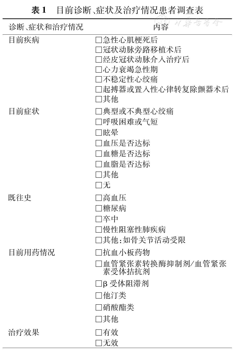 冠心病康复与二级预防中国专家共识