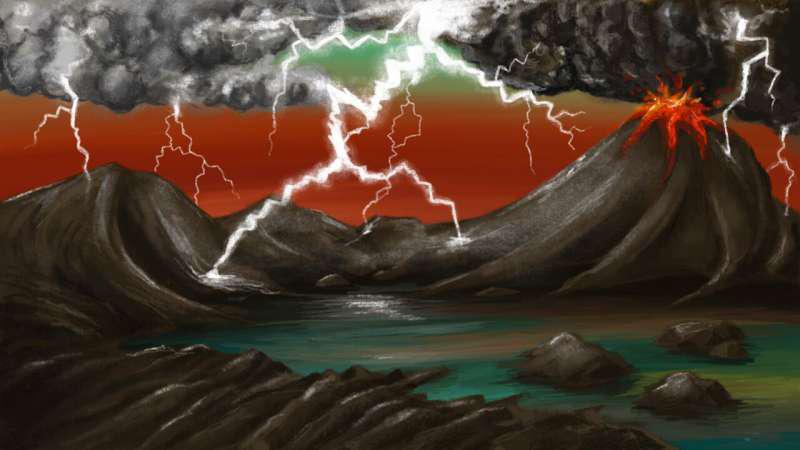 大约40亿年前的地球早期插图。.png