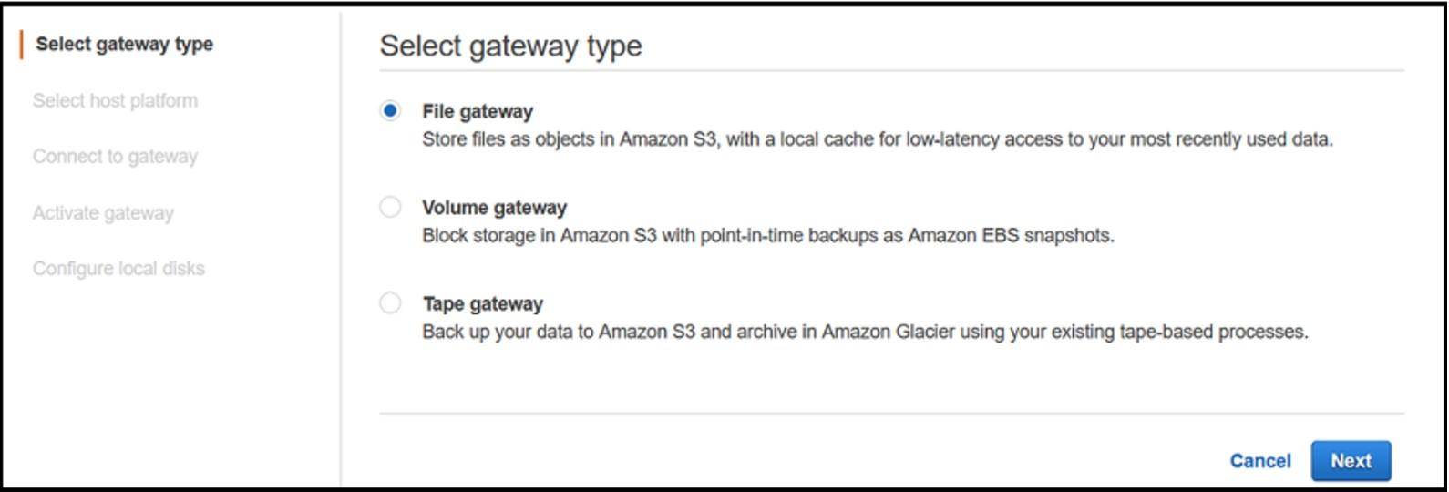 AWS文件存储网关初体验