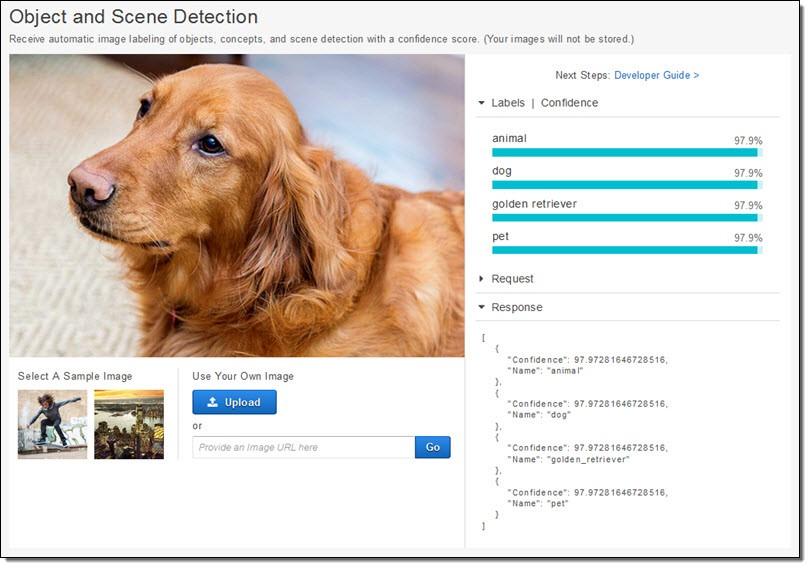 Amazon Rekognition – 深度学习支持下的图像检测与识别服务