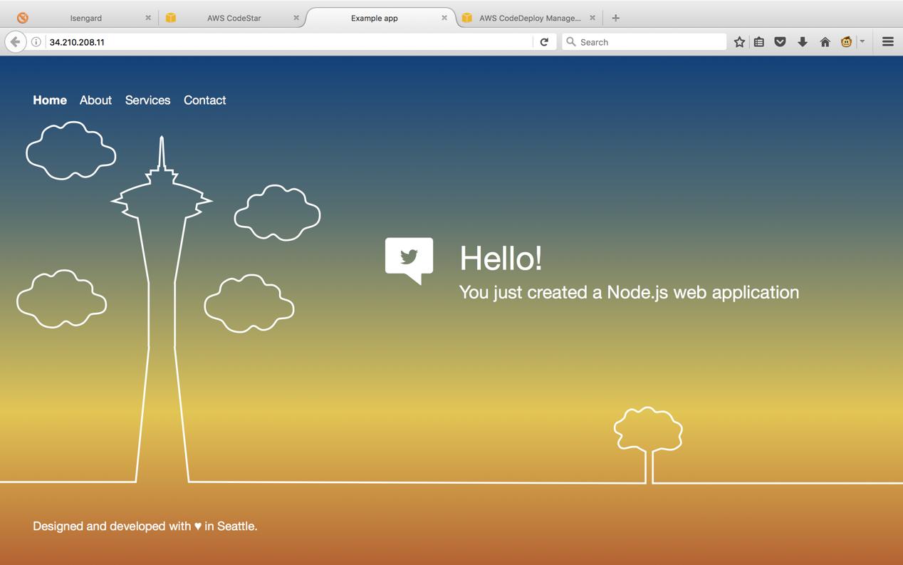 云端开发工具:AWS CodeStar