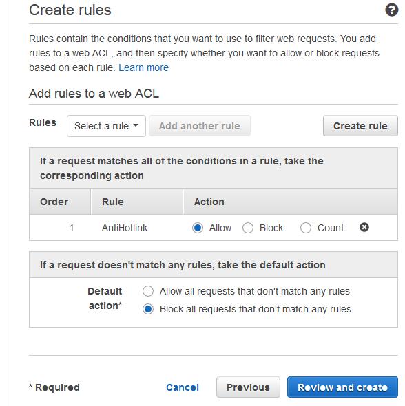 AWS WAF – Web 应用程序防火墙初体验