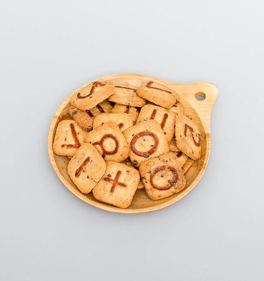 数字形巧克力谷物饼干