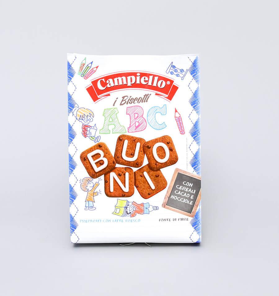 字母形巧克力榛子谷物饼干