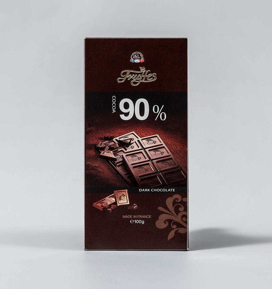 可可黑巧克力排装百分之九十