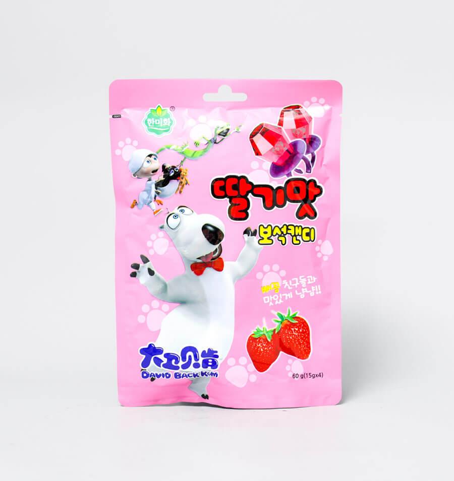 草莓味宝石戒指糖