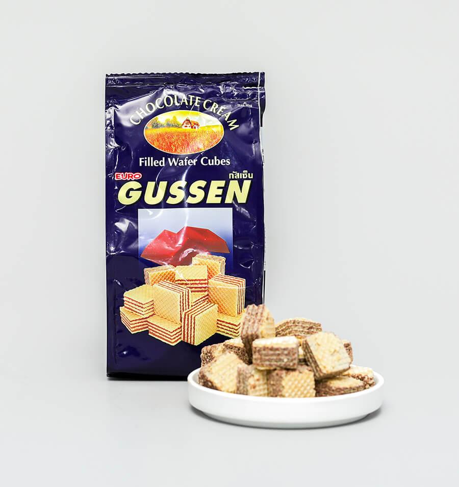 巧克力味方形威化酥饼干