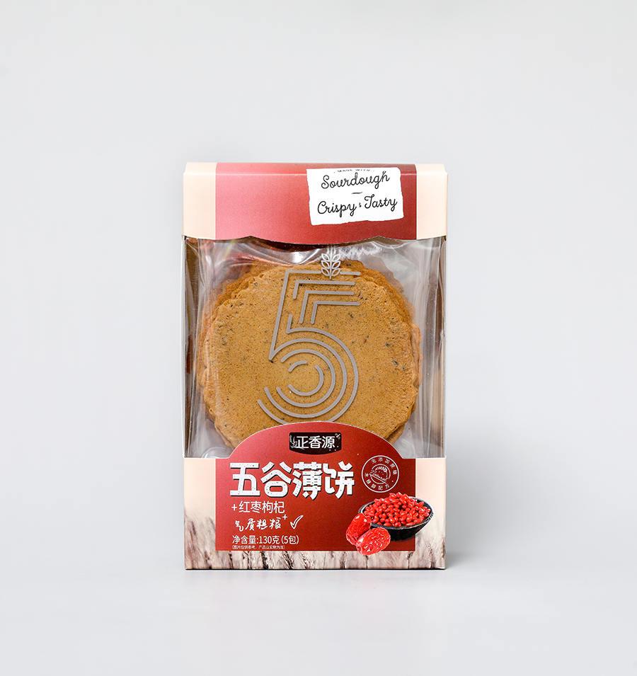 五谷薄饼红枣枸杞