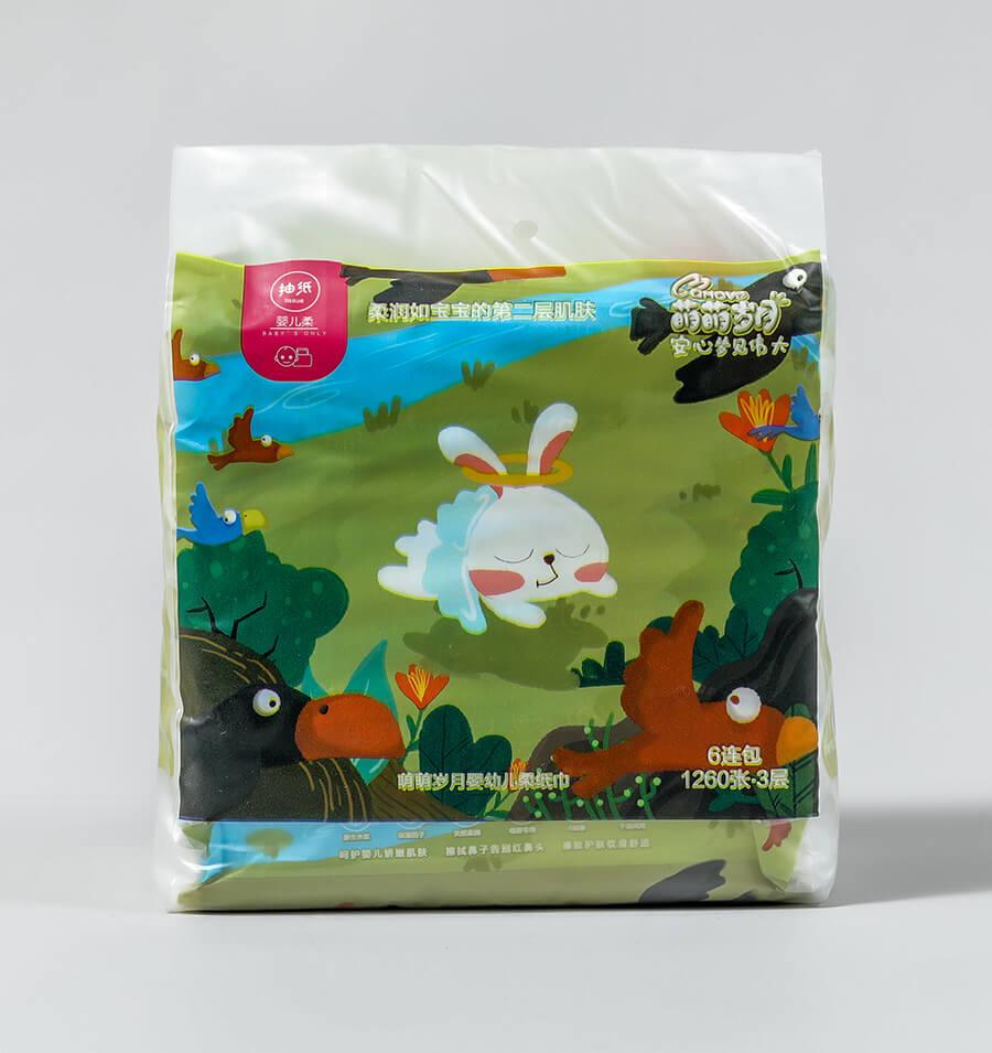 婴幼儿柔纸巾6连包