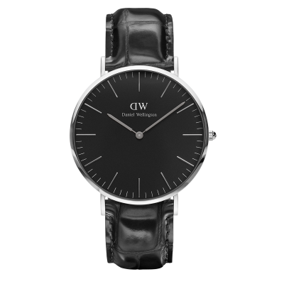 Classic Black Reading Silver 40mm